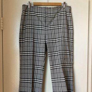 ZARA Black and White Plaid Cropped Pants Size 10